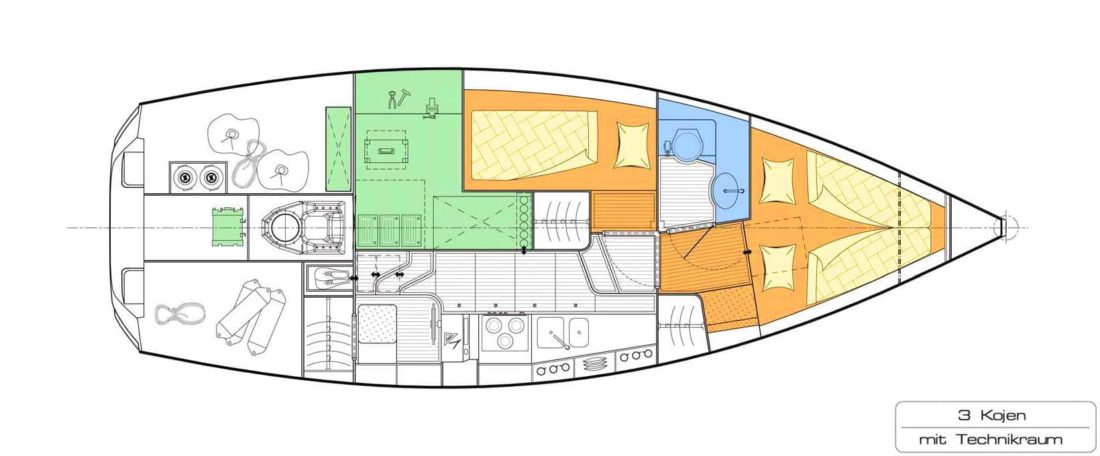 Sirius 310 DS layout - with technical room