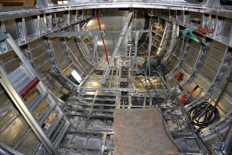 Structure of an aluminium hull