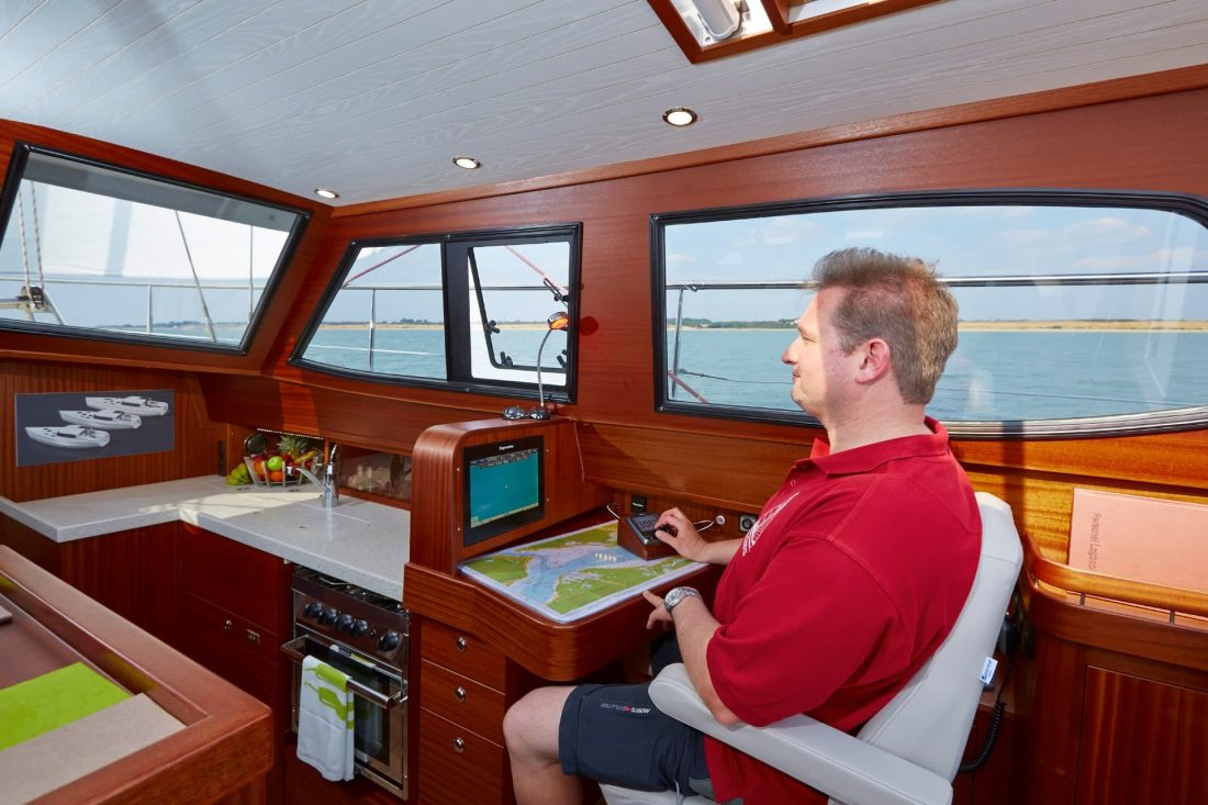 Sirius Yachts - use the deck saloon like a pilothouse
