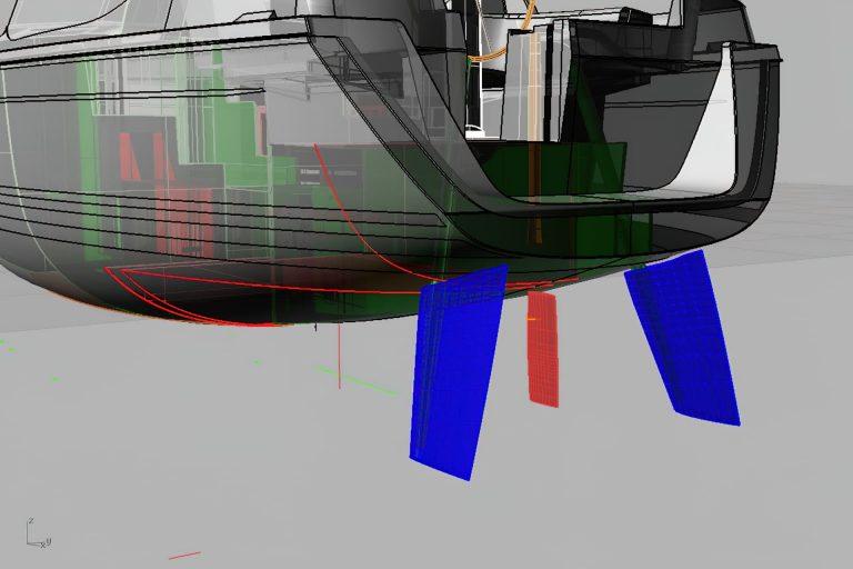 Sirius Yachts - rudder design