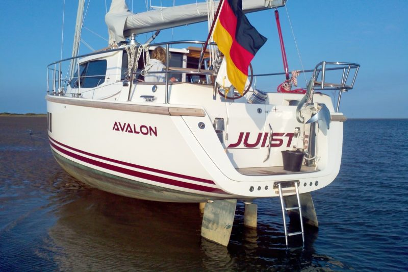 Sirius Yachts - Many yachts have twin rudders that are angled outboard on each side of the stern