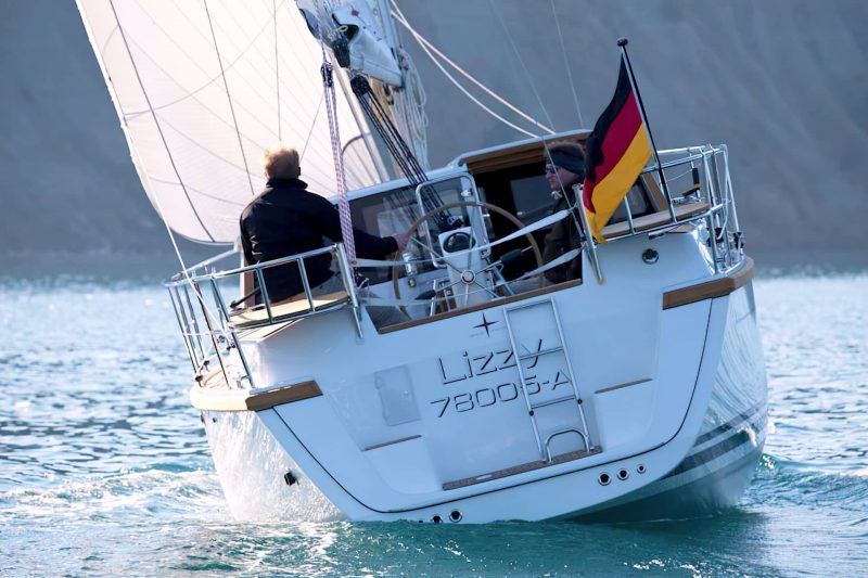 Sirius Yachts - The rudder blade must be deep to maintain control when the yacht heels