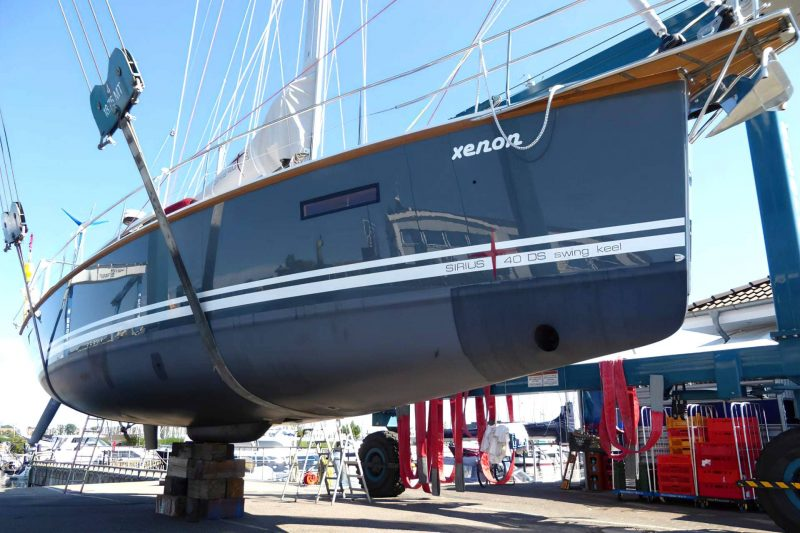 Sirius Yachts - we don't use a grounding plate to take the weight of the yacht