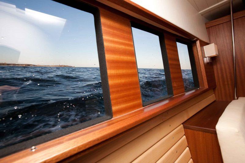 Sirius Yachts have proper windows