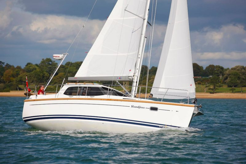 Sirius Yachts – Our standard headsail configuration is a sloop rig